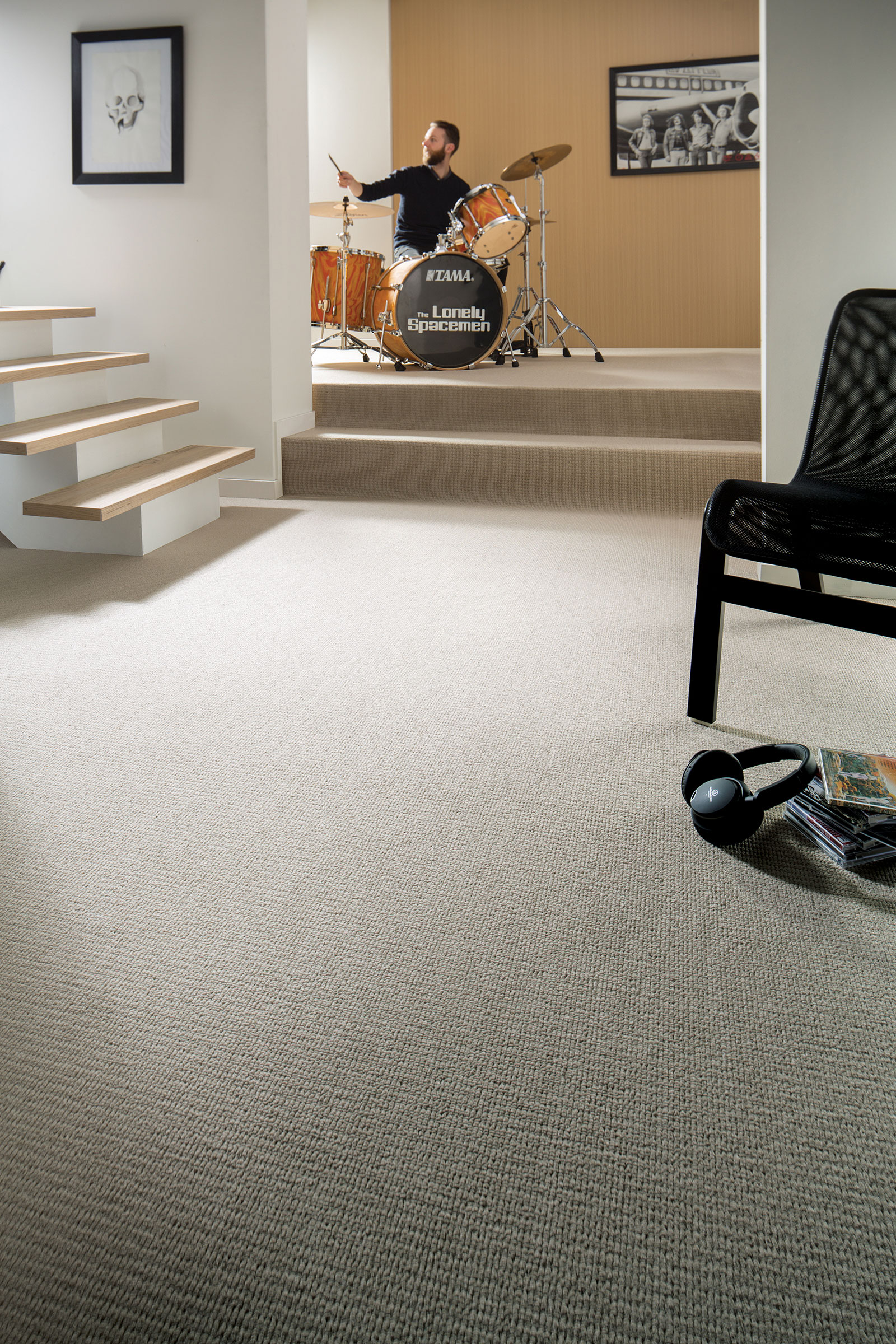 Artistic Flooring Ideas For Your Home Music Room - Choices Flooring